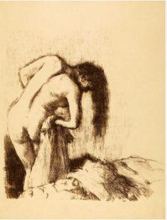 Edgar Degas (French, 1834-1917). La Sortie du Bain, 1891-1892. The University of Michigan Museum of Art, Michigan. Gift of Ruth W. and Clarence J. Boldt, 2008. http://www.umma.umich.edu