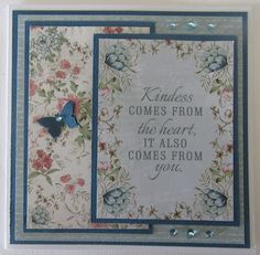 Sharing another card today using the Kaisercraft Rose Avenue papers and tags. Love the soft colours in this range . Birthday Sayings, Birthday Cards, Soft Colors, Colours, Gypsy Rose, Rose Cottage, Card Ideas, Projects To Try, Card Making