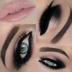 Maquillaje <3 #eyemakeup #hoteyes #pinklips #smokeyeye  Share your looks on bellashoot.com
