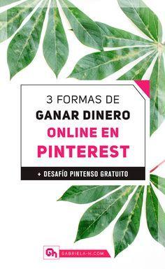 ¿Sabias que Pinterest es uno de los mejores canales para ganar dinero online? En este post te comparto 3 formas de hacerlo ya. #ganardinero #emprenderonline #emprender #negocios #pinterestmarketing