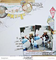 Designteamarbeit SBW My Minds Eye Record it Follow your heart Layout von Katja Müller