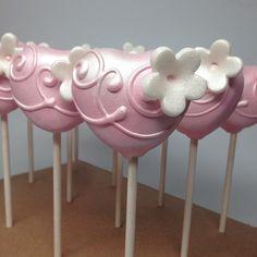 """Heart Cakepops #cakepop #cakepops #mom #pink"""