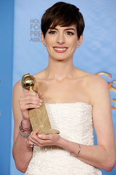 "Anne Hathaway won Best Performance by an actress in a supporting role for ""Les Miserables""."