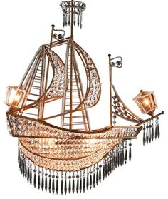 New Large Sailing Ship Crystal Chandelier 6   Traditional   Chandeliers    EuroLuxHome