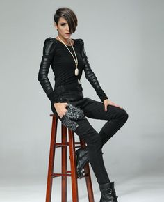 Leather-block Black Base Shirt | BlackFive
