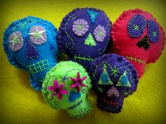 Day of the Dead Skulls - Found on Etsy at Wenn's Weird Creations, $3.00 to $4.00