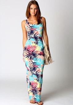 Shop Blue Tropical Print Scoop Neck Maxi Dress online. Sheinside offers Blue Tropical Print Scoop Neck Maxi Dress & more to fit your fashionable needs. Free Shipping Worldwide!