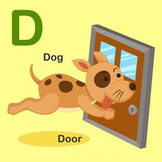 Isolated Animal Alphabet Letter D-dog Door on Amazing Dog Photo Ideas 1132 Dog Vector, Vector Free, Broken Family Quotes, Alfabeto Animal, Learning The Alphabet, Preschool Alphabet, Animal Alphabet, Learn English Words, Word Pictures