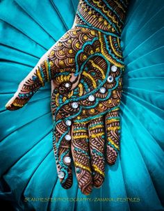 Hennaed hand (by Nirjary Desai)  Posted for educational purposes only. No copyright infringement intended.