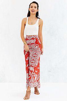 Staring At Stars Straight-Cut Boho-Print Maxi Skirt - Urban Outfitters