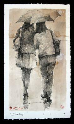 Andre Kohn Sisters drawing