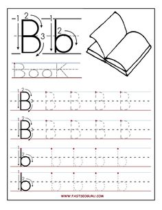 Printable letter B tracing worksheets for preschool - Printable ...
