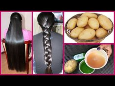 How to get Long Hair, Soft Hair, Smooth Hair and Healthy Hair with Potato - Magical Remedy Grow Long Hair, Braids For Long Hair, Grow Hair, Asian Hair Growth, Extreme Hair Growth, Silky Smooth Hair, Soft Hair, Thick Hair, Make Hair Thicker