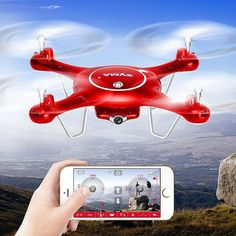 Quadcopter Drones with Wifi X5UW/X5UC FPV RC Route App Control