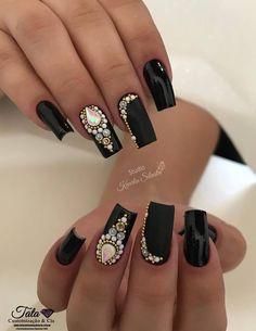 Jrassweiler unhas nude nails perfect nails e matte nails Gem Nails, Bling Nails, Matte Nails, Love Nails, Hair And Nails, Acrylic Nails, Matte Pink, Acrylic Nail Designs, Nail Art Designs
