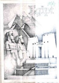 History of Egypt by Vlad Bucur Ancient Egypt Architecture, Study Architecture, Ancient Buildings, Japanese Architecture, Architecture Drawings, Famous Buildings, Building Drawing, Building Sketch, Clay Wall Art