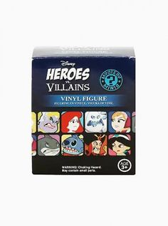 FUNKO Disney Heroes Vs. Villains Mystery Minis Blind Box Vinyl Figure Case - Hot Topic Exclusive (x12 Brand New & Sealed) * Includes Display Case