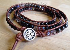 Sparkle Leather Wrap Bracelet Kit – All Levels Kit makes one bracelet that will wrap up to three times around your wrist. The Sparkle Leather Wrap Bracelet Kit includes 5 pages of instructions with photos. Available in 5 different stone/bead colorways while supplies last.  There are enough materials to make this bracelet wrap your wrist …