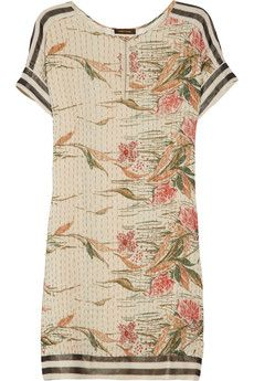 Vineet Bahl Embroidered crepe and chiffon dress | THE OUTNET