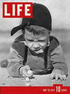 LIFE Magazine May 10, 1937 - Playing Marbles