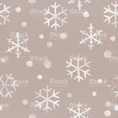 Snowflakes falling down on cardboard background. Winter themed seamless pattern…