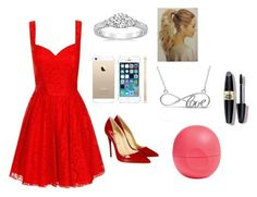 """""""Untitled #38"""" by sselmanagic on Polyvore featuring Chi Chi, Allurez, Christian Louboutin, Eos and Max Factor"""