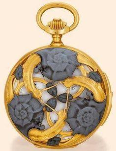 Reloj de bolsillo Caracoles-René Lalique (c-1900)