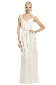 Another good rental option. With a belt and fun jewelry...  Snow Mountain Maxi by Yumi Kim