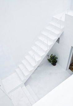 Courtyard with stairway. Dar Mim by Septembre. Photo by Sophia Baraket.