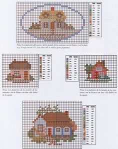 miniature needlework chart Diy Embroidery, Cross Stitch Embroidery, Cross Stitch Patterns, Cross Stitch House, Mini Cross Stitch, Cross Stitch Pictures, Needlepoint Patterns, Cross Stitching, Needlework