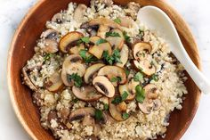 Mushroom Risotto with Cauliflower Rice