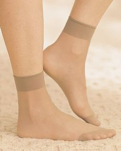 All Nylon Ankle Hi, Nude National. $14.95