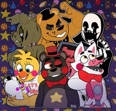 """sparklecupcakesthings: """"7 games, 1 story… who's ready for the fnaf ultimate custom night? """""""