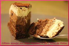 Gâteau mousse aux trois chocolats... un délice !