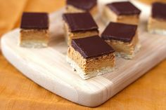 Healthy Peanut Butter and Dark Chocolate Shortbread Bars - Desserts with Benefits