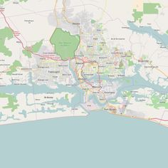 Editable City Map of Abidjan