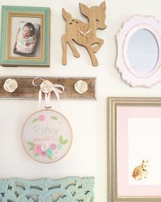 Rory Lou's Shabby Chic Mint, Pink and Gold Nursery