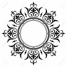 Mandala Stencils, Stencil Patterns, Painting Patterns, Mandala Drawing, Mandala Art, Border Design, Circle Design, Decorative Lines, Vintage Borders
