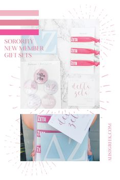 Create the perfect Bid Day gift pack for your Delta Zeta new members! Choose from three gift bag options: Newbie Love, Pref Present or Spoiled. Delta Zeta Gifts | Delta Zeta Bid Day | DZ New Member Gifts | DZ Rush Gift Bags | Delta Zeta Recruitment | Sorority Bid Day | Sorority Recruitment | Bid Day Bags | Sorority New Member Gift Ideas #BidDayGifts #SororityRecruitment Sorority Bid Day, College Sorority, Sorority Recruitment, Bid Day Gifts, Bid Day Themes, Delta Zeta, University Of Miami, Day Bag, Gift Bags