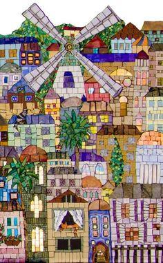 Jerusalem Detail 2 by Irina Charny Mosaics. Mosaic Artwork, Mosaic Wall Art, Mosaic Tiles, Mosaic Mirrors, Mosaic Crafts, Mosaic Projects, Art Projects, Mosaic Designs, Mosaic Patterns