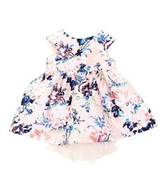 Pippa & Julie Baby Girls Months Floral-Printed Mikado Fit-And-Flare Dress Toddler Girl Style, Toddler Girl Outfits, Baby Girl Dresses, Toddler Fashion, Kids Outfits, Toddler Girls, Little Girl Outfits, Little Girl Fashion, Baby Girl Thanksgiving Outfit