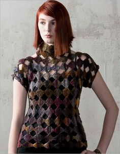 Octagon-Dot Pullover | InterweaveStore.com.  Love this pull over, I'm buying the pattern today!