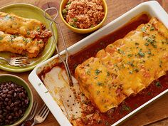 SIMPLE PERFECT ENCHILADAS: ~ From: Food Network.Com ~ Recipe Courtesy of Ree Drummond (The Pioneer Woman). ~ Prep.Time: 20 min; Cooking Time: 40 min; Yield: (6 servings); Level: Easy.
