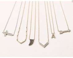Initial necklaces from Stella & Dot's Covet line  www.stelladot.com/atadic