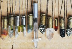 grungy crystal pendants.#jewelry, #diy