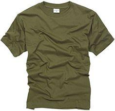 100% Cotton Basic Military Style T-shirt - Olive