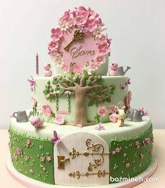 New cake art girl baby shower ideas Baby Cakes, Baby Shower Cakes, Baby Birthday Cakes, Girl Cakes, Garden Birthday Cake, Fairy Garden Cake, Garden Cakes, Garden Theme Cake, Fondant Cakes