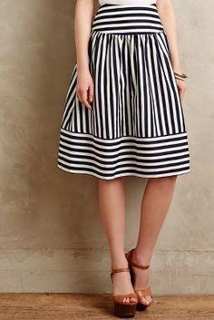 Maeve High Seas Skirt #anthroregistry