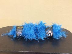 Fun Fur Bright Blue Lion Brand Yarn 2 Units #LionBrand