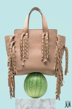 cbe5b26cec Valentino Garavani C-Rockee Studded Fringe Micro Shopper Tote Bag